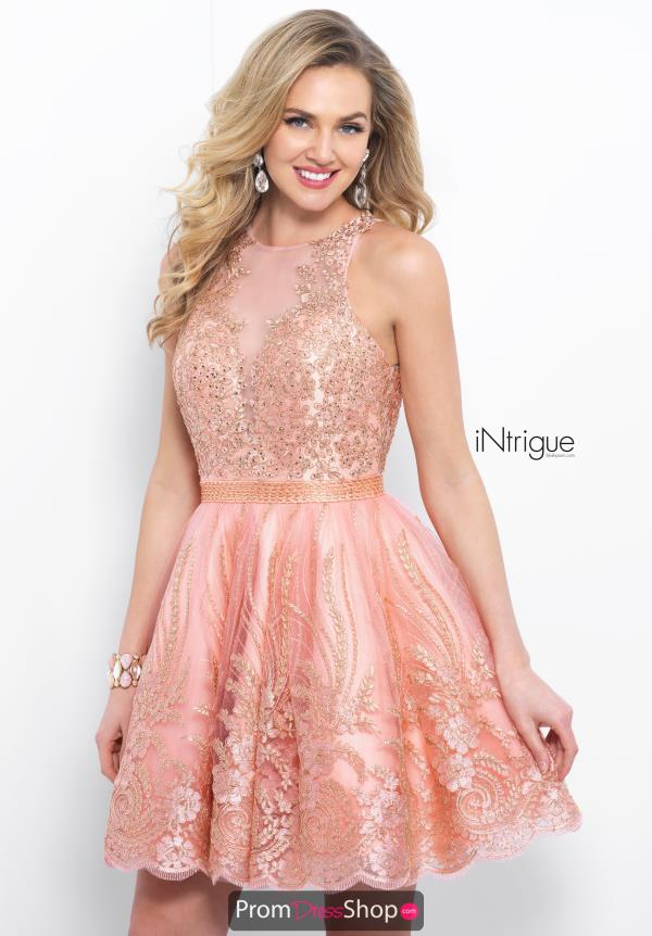 Intrigue by Blush Beaded Short Dress 382