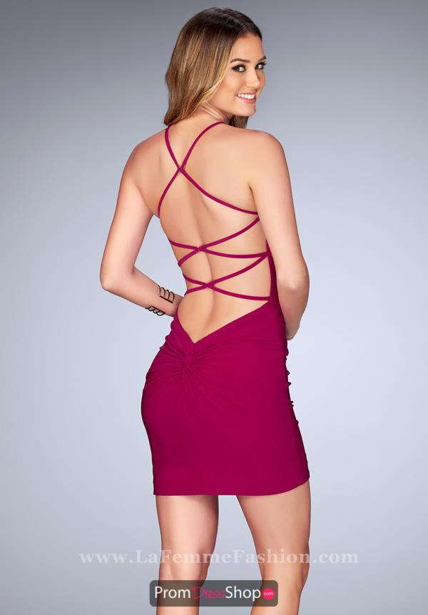 La Femme Short Fitted Dress 25141