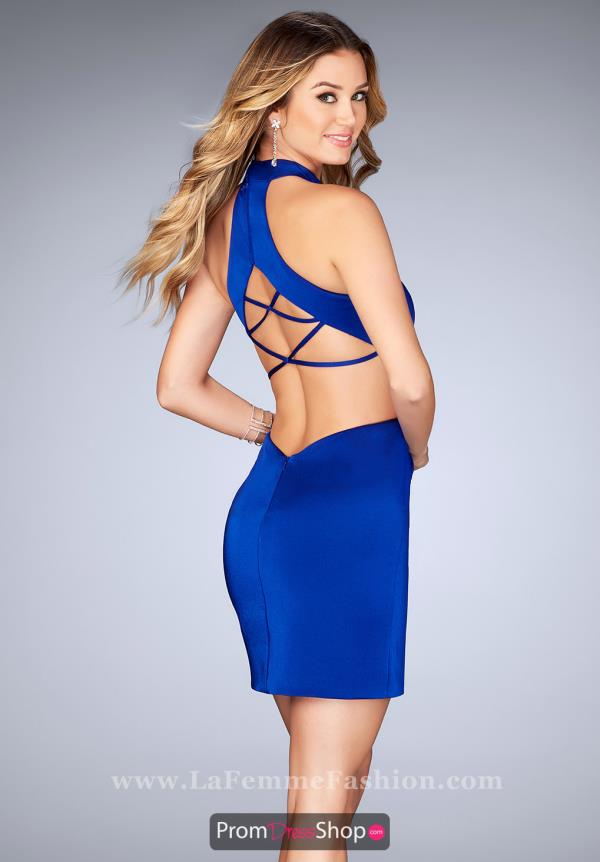 La Femme Short Sexy Dress 25197