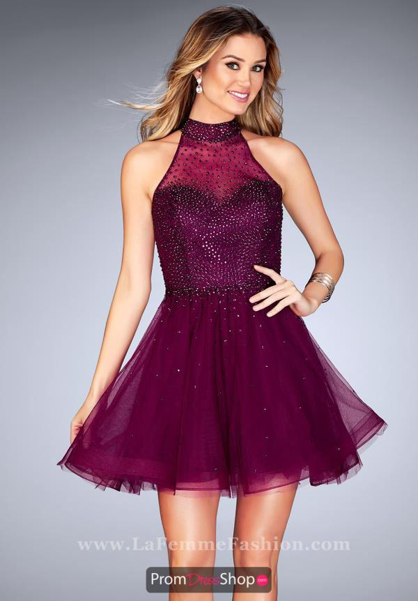 La Femme Short Beaded Dress 25293