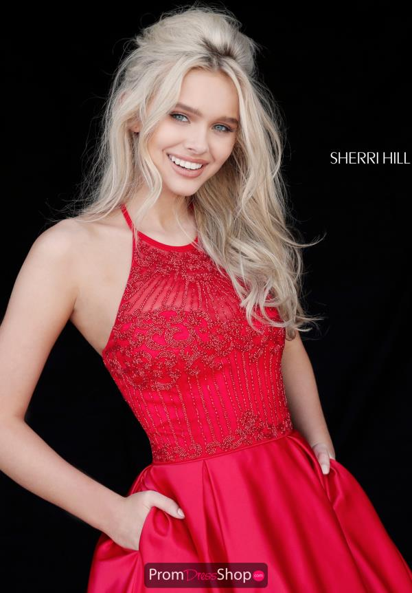 Sherri Hill Short Full Figured Beaded Dress 51399