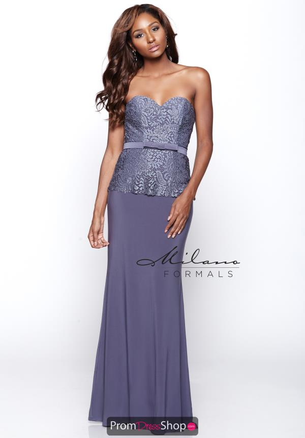 Milano Formals Fitted Lace Dress E2085