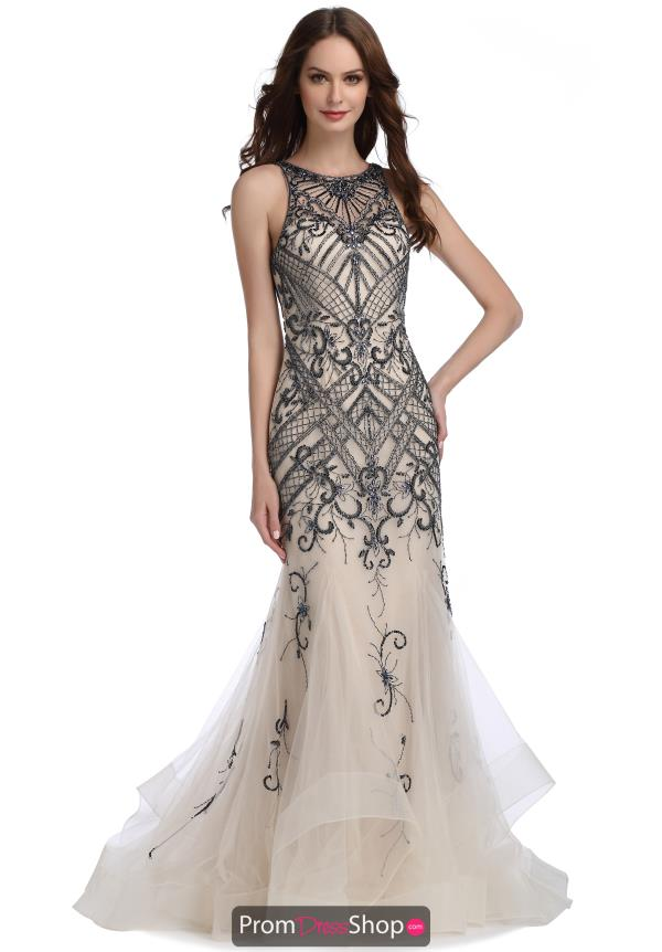 Romance Couture Beaded Dress N1482
