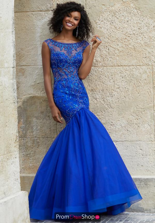 Mori Lee High Neckline Mermaid Dress 42021