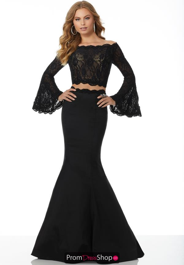Mori Lee Long Sleeved Lace Dress 42022