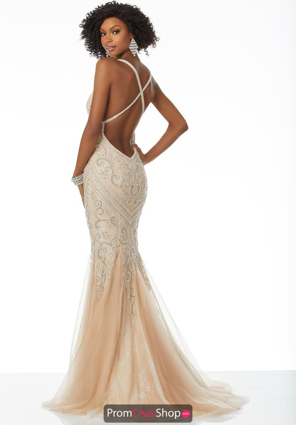 Mori Lee Long Beaded Dress 42043