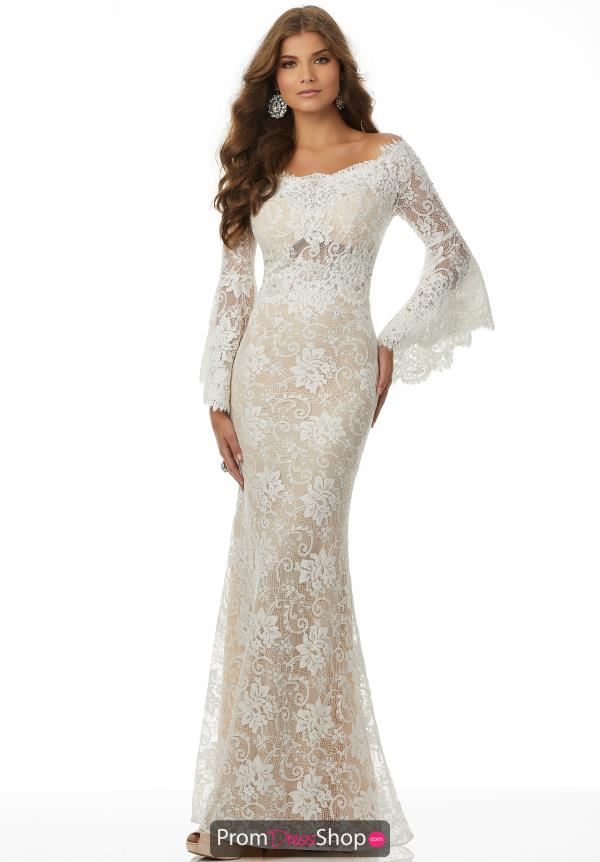 Mori Lee Lace Fitted Dress 42082