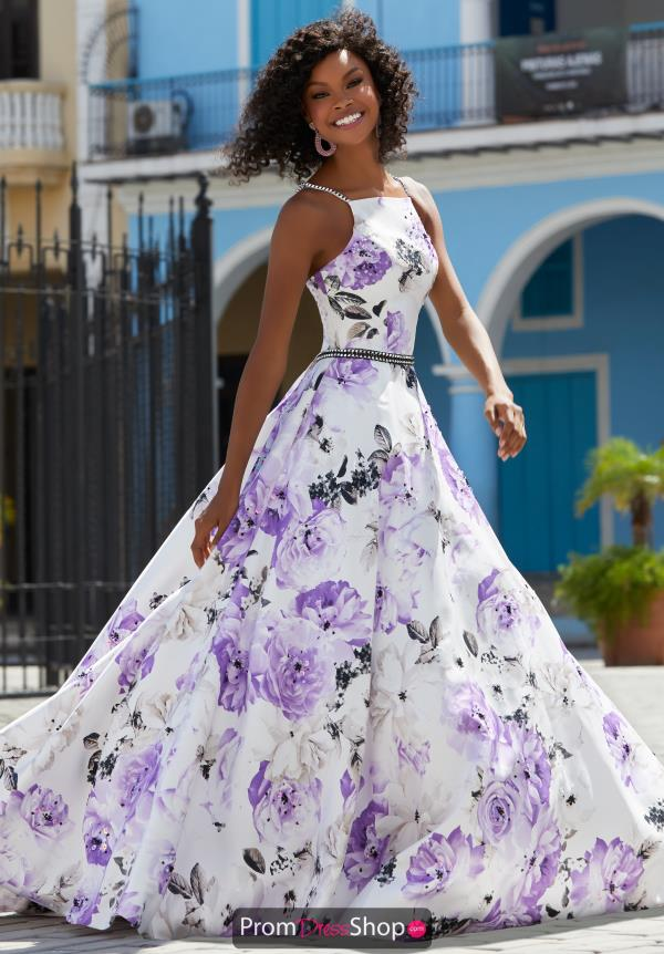 Mori Lee Long Floral Dress 42085