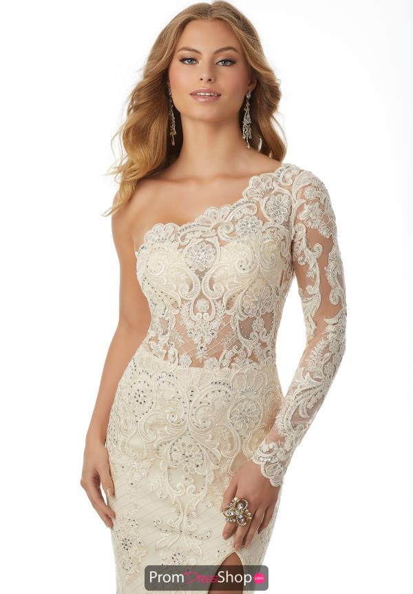 Mori Lee Long Lace Dress 42103