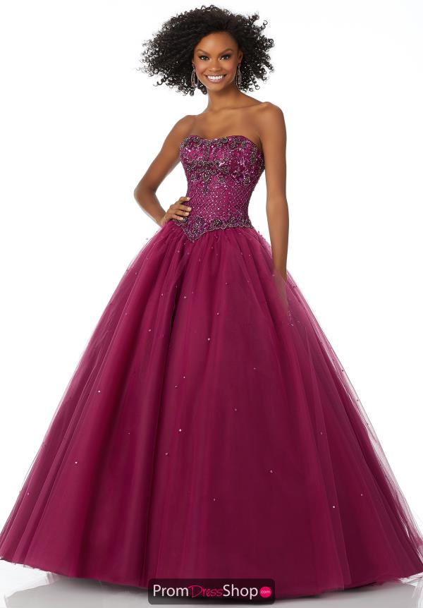 Mori Lee Tulle Skirt Ball Gown 42133