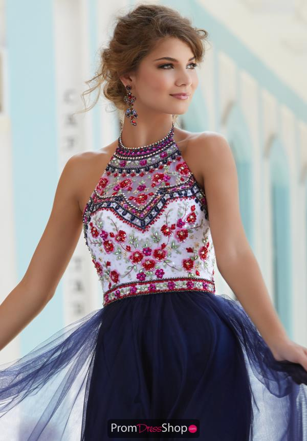 Mori Lee Halter Top A Line Dress 99016
