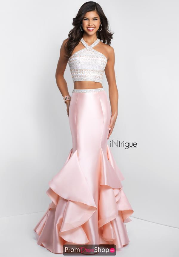 Intrigue by Blush Beaded Long Dress 417