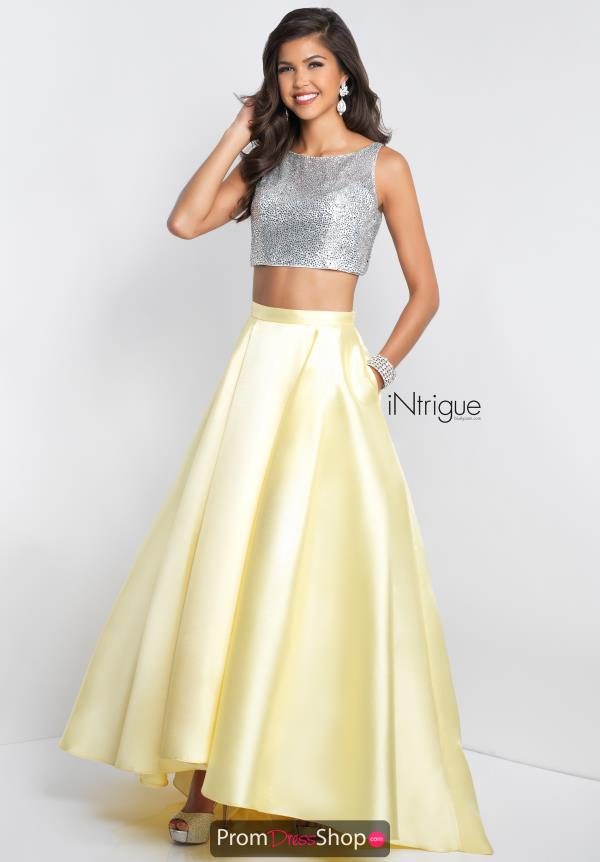 Intrigue by Blush Beaded Long Dress 419