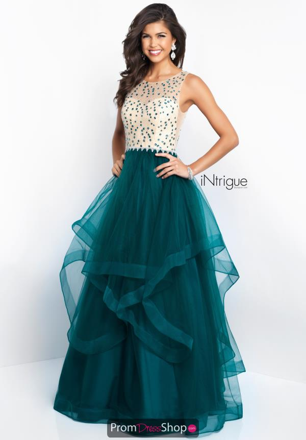 Intrigue by Blush Beaded Long Dress 421