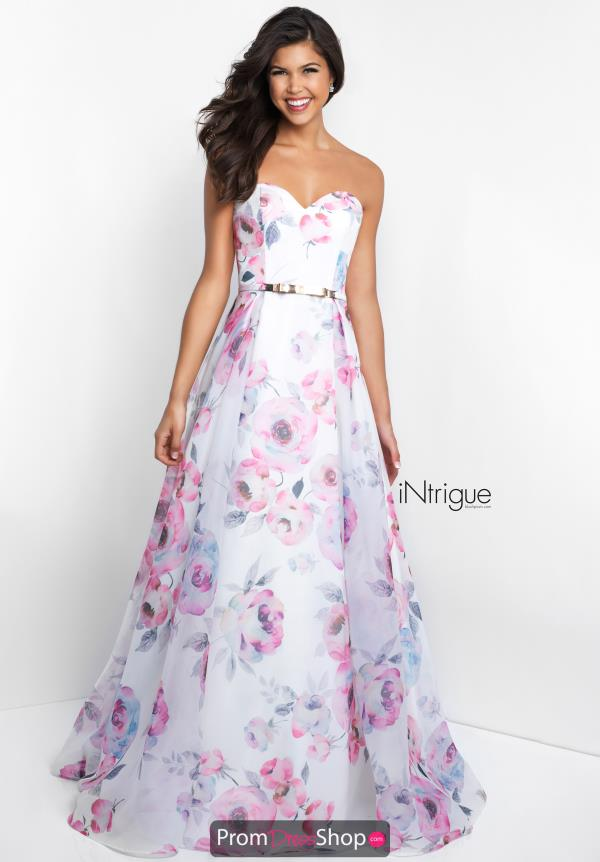 Intrigue by Blush Strapless A Line Dress 429
