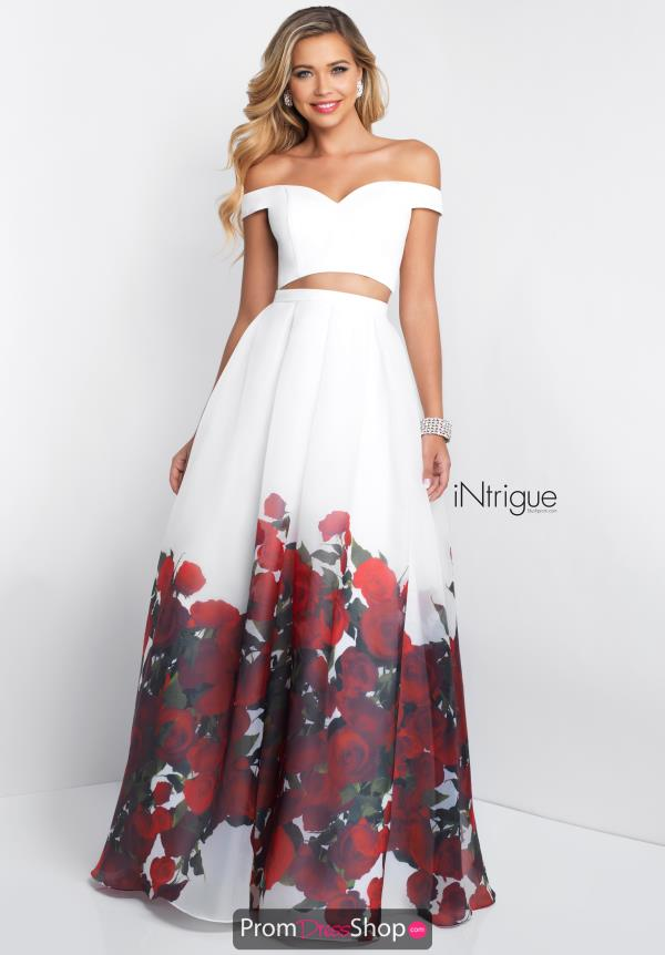 Intrigue by Blush Long Print Dress 445