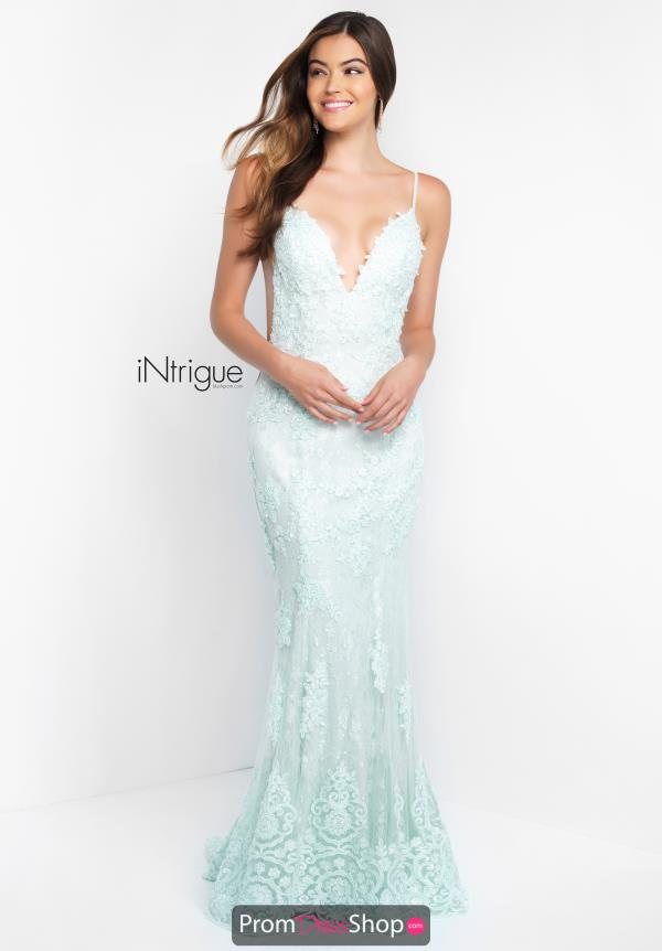 Intrigue by Blush Open Back Fitted Dress 447