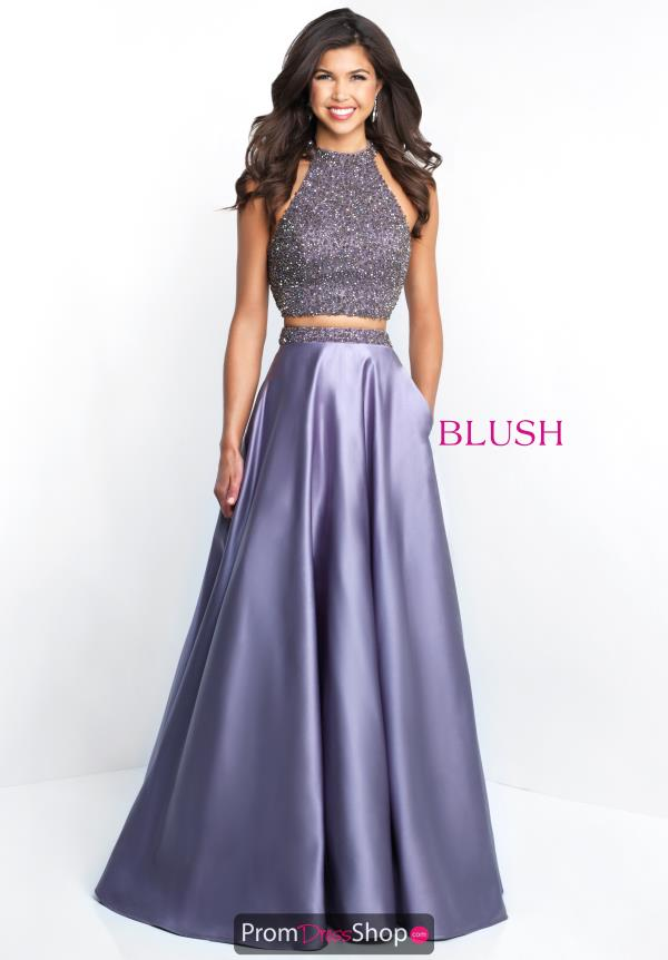 Blush Beaded Long Dress 5651