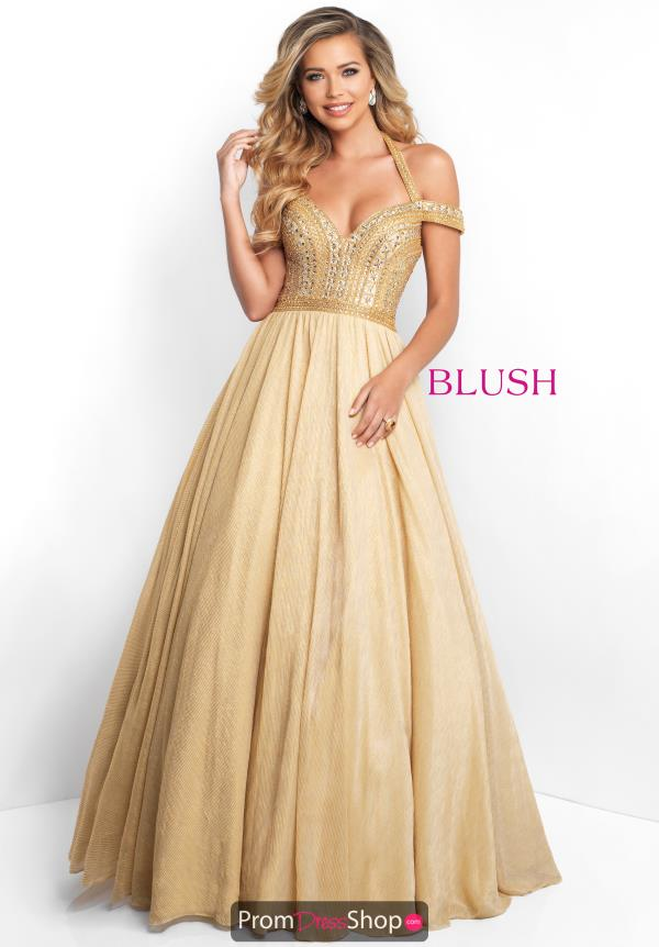 Blush Long A Line Dress 5658