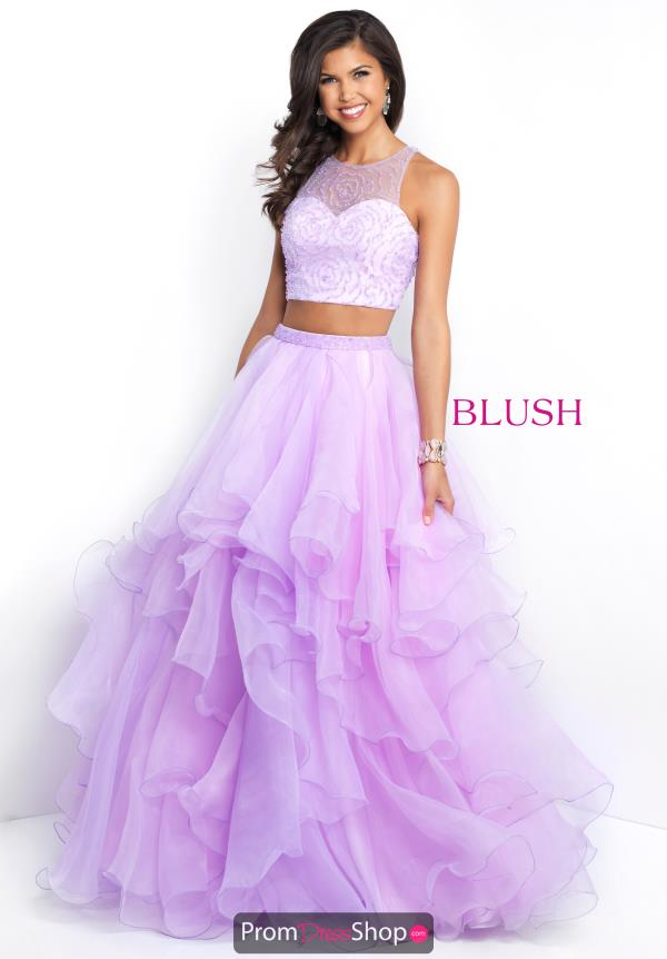 Blush Tulle Skirt A Line Dress 5664