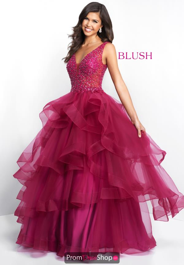 Blush Long A Line Dress 5671