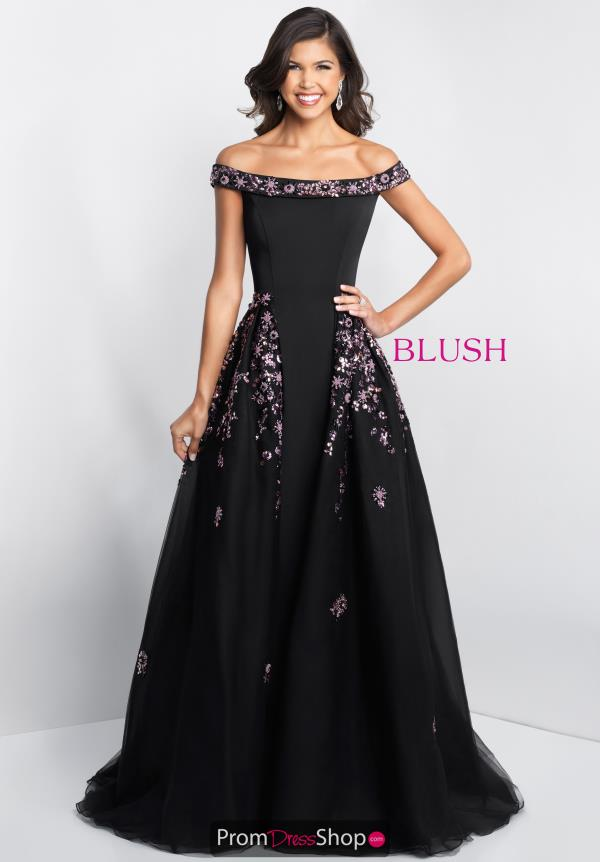 Blush Beaded A Line Dress 5678