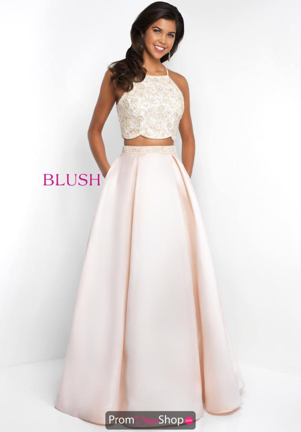 Blush Long A Line Dress 5679
