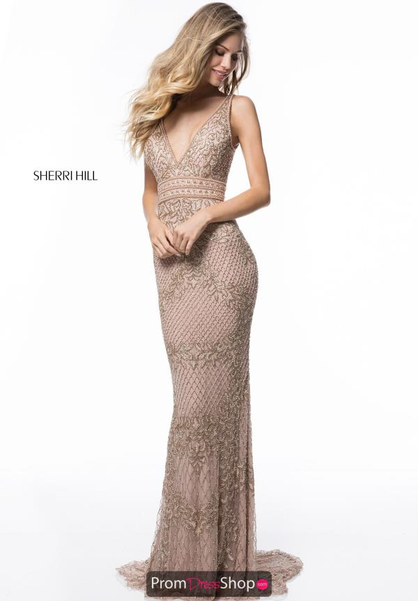 Sherri Hill Open Back Long Dress 51475