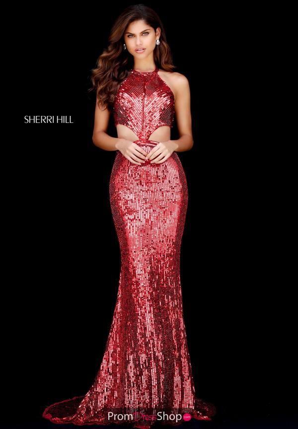 Sherri Hill Fitted Long Dress 51663