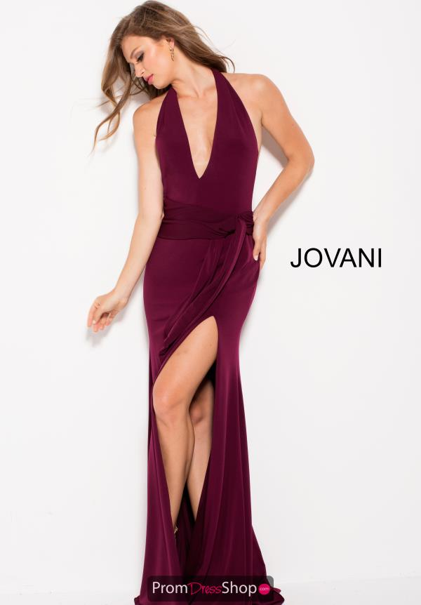 Jovani Jersey V Neck Dress 51827
