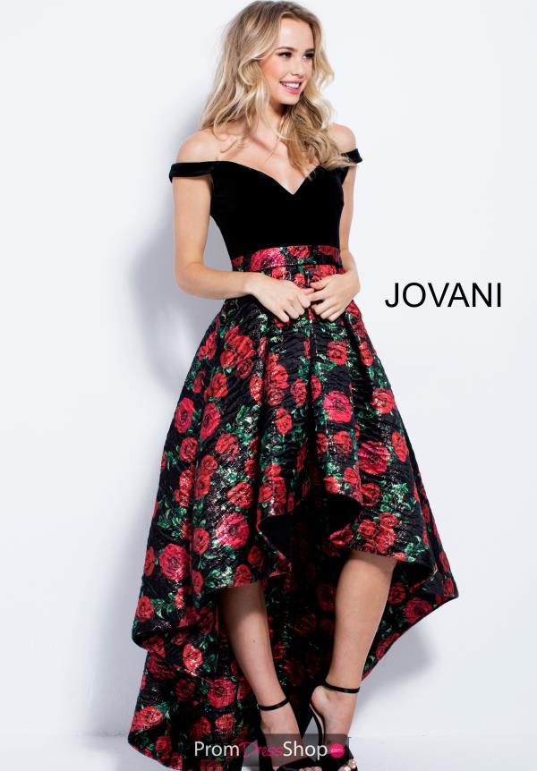 Jovani A-line High Low Dress 55057