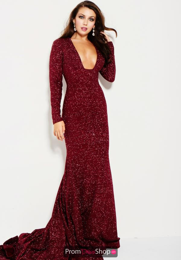 Jovani Fitted Long Sleeve Dress 55791