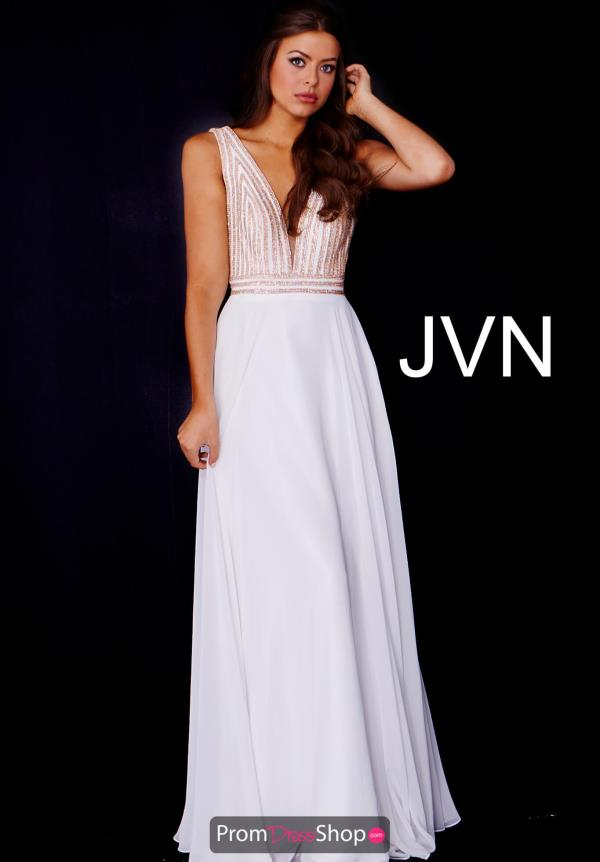 JVN by Jovani V Neck Dress JVN53379
