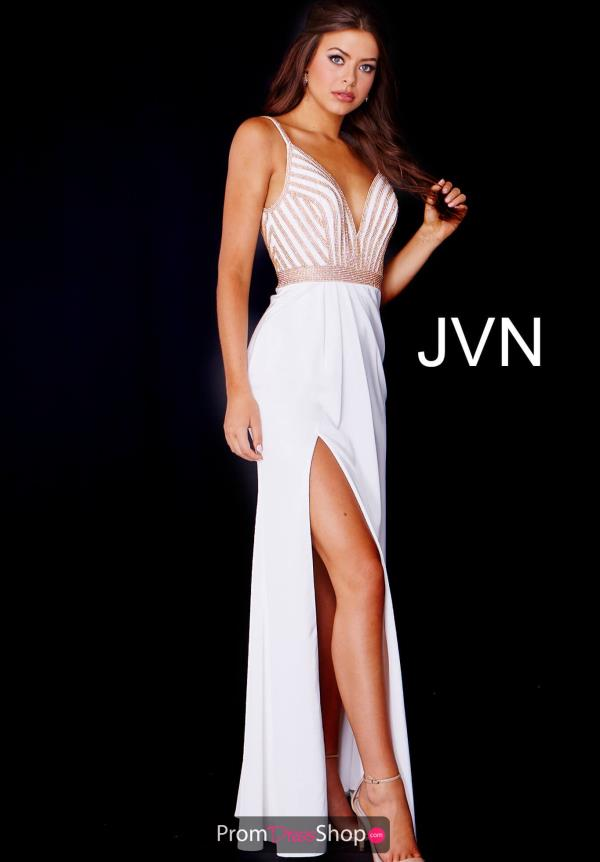 JVN by Jovani Beaded V Neck Dress JVN59052