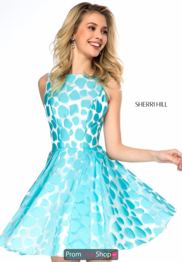 Sherri Hill Short High Neckline Dress S51921
