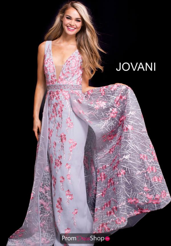 Jovani V- Neckline A Line Dress 58935