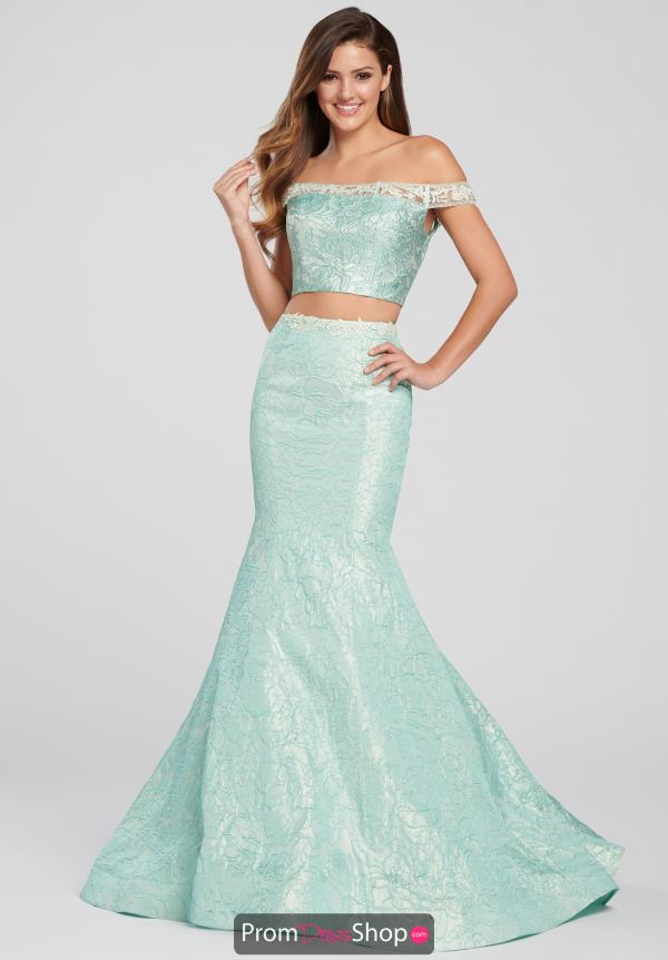 Ellie Wilde Off the Shoulder Mermaid Dress EW119014