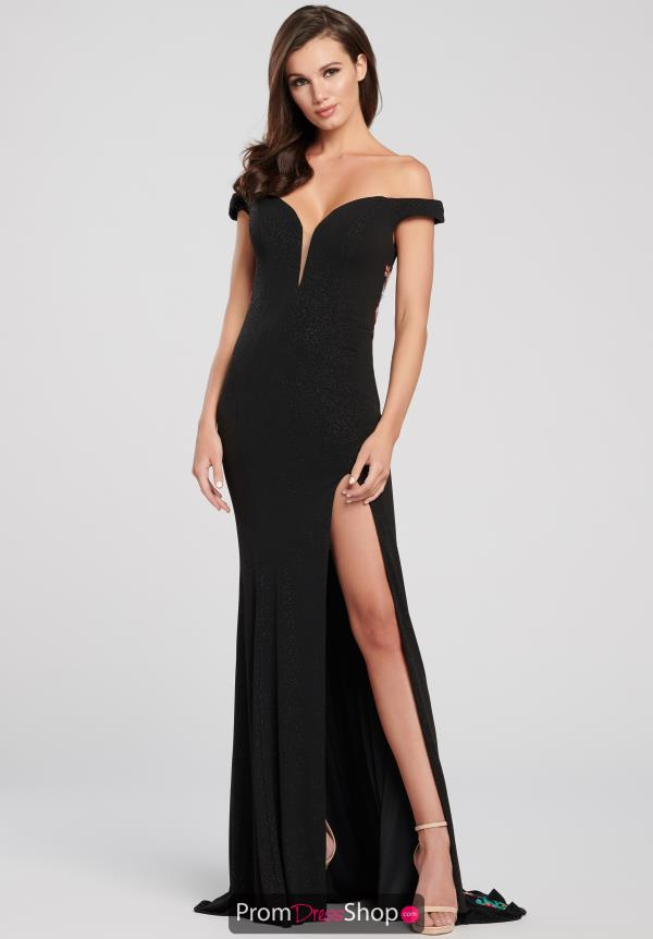 Ellie Wilde Fitted Off the Shoulder Dress EW119046