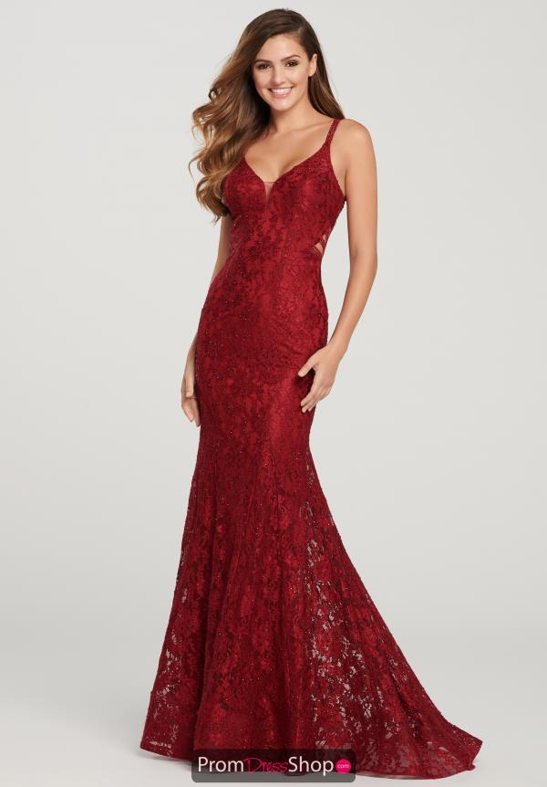 Ellie Wilde Beaded Fitted Dress EW119147