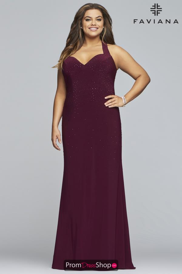 Faviana Fitted Long Dress 9458