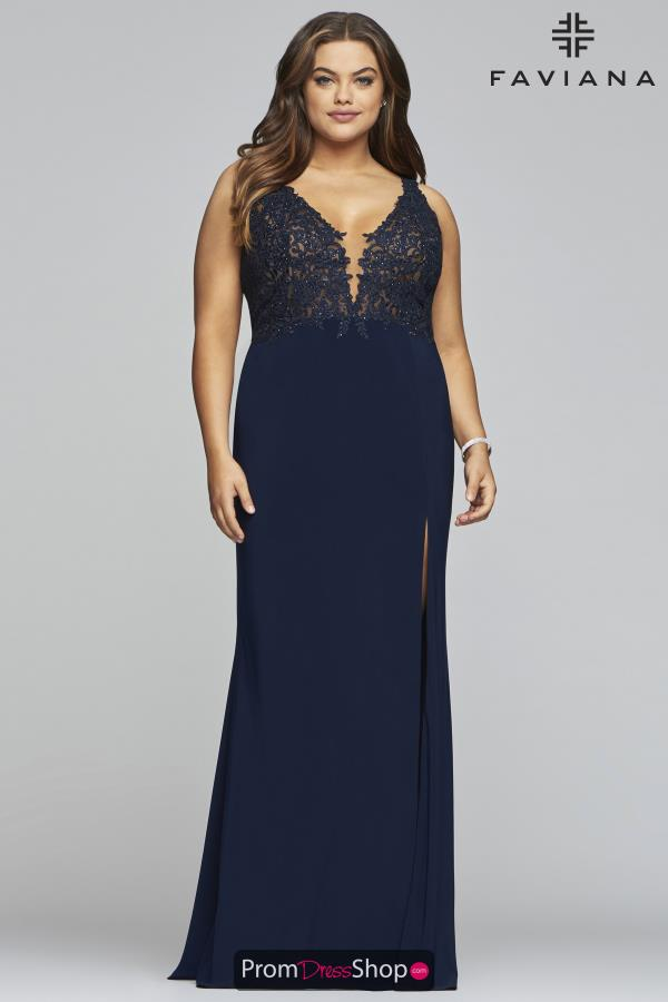 Faviana Fitted Jersey Dress 9463