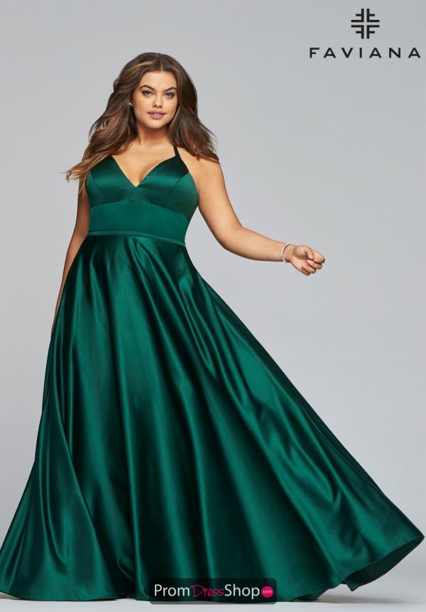 Faviana Long Satin Dress 9466