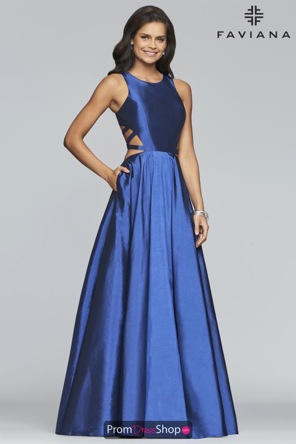 Faviana High Neckline Long Dress 10248