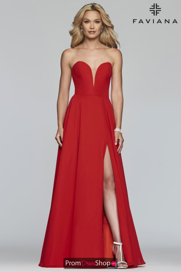 Faviana Strapless A Line Dress S10232
