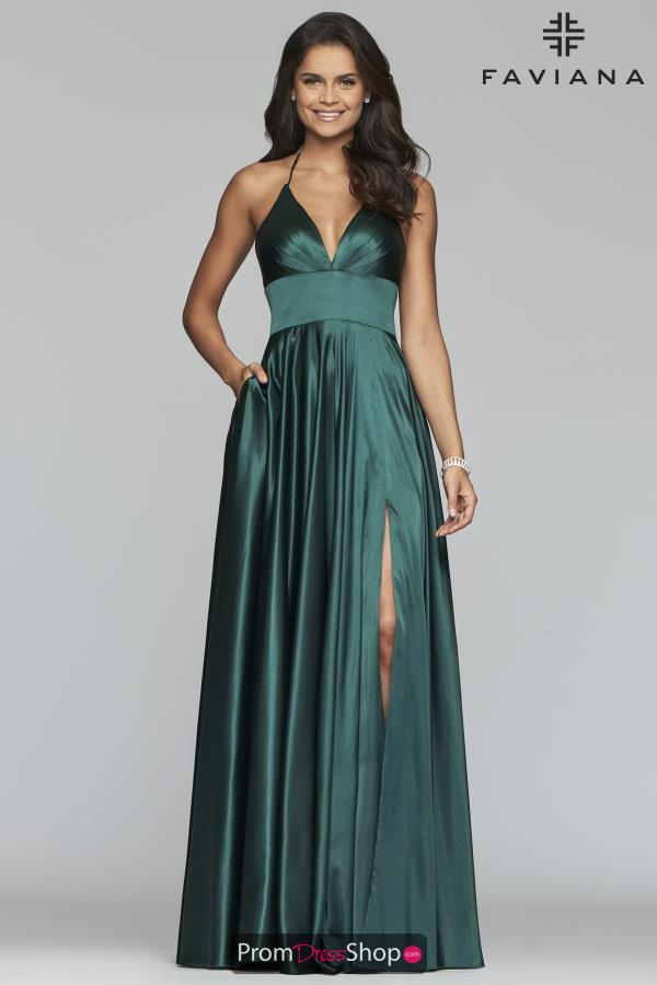 Faviana Satin A Line Dress S10255