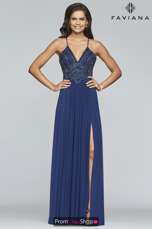Faviana Long Beaded Dress S10270