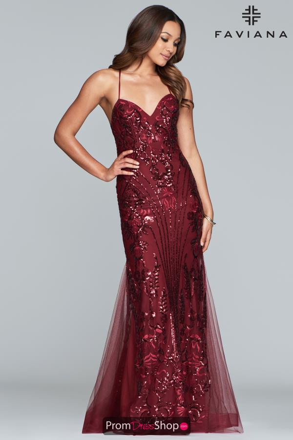 Faviana Sweetheart Neckline Beaded Dress S10280