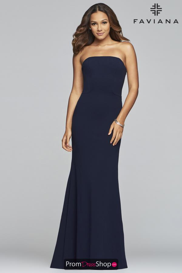 Faviana Long Fitted Dress S10285