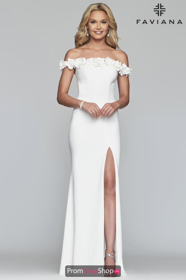 Faviana Long Fitted Dress S10297