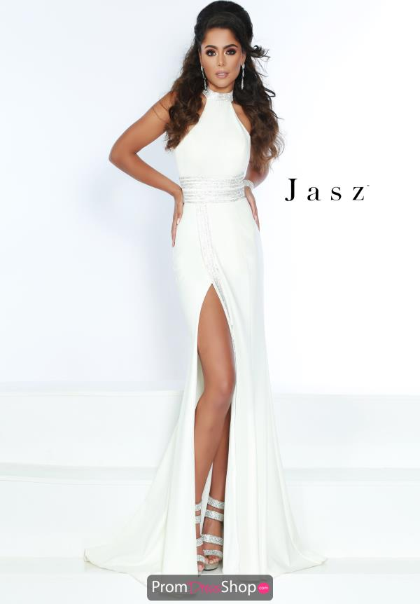 Jasz Couture High Neck Fitted Dress 6417